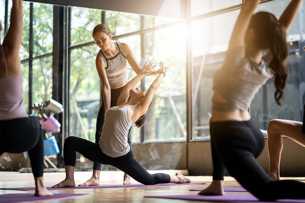 yoga class 瑜伽课程练习